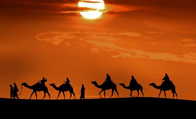a caravan to Mecca