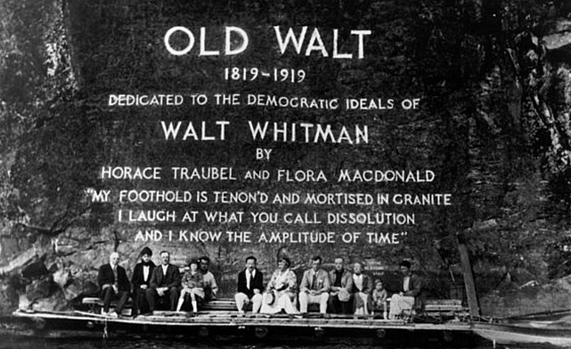 The re-dedication of the Old Walt inscription on June 29, 1965