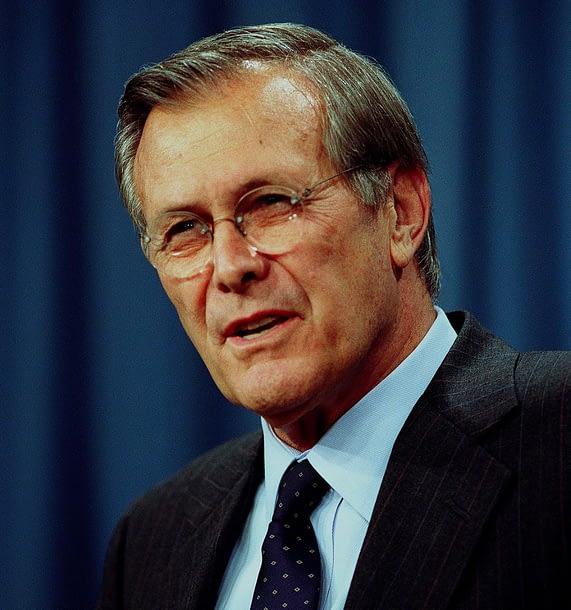Portrait of Donald Rumsfeld, United States Secretary of Defense.
