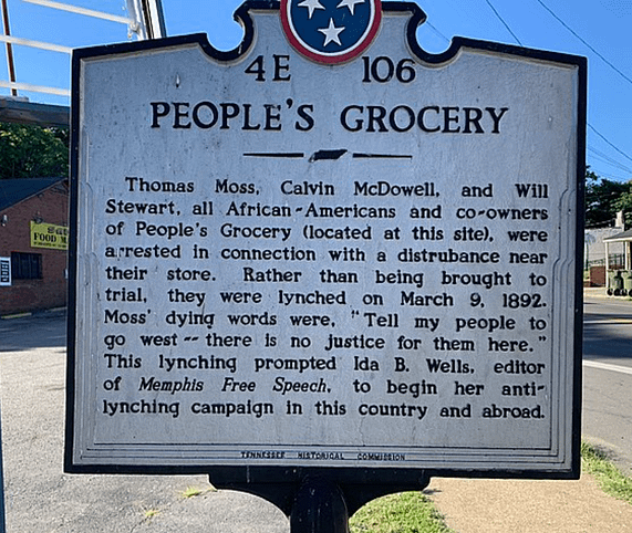 The People's Grocery, owned by Thomas Moss.