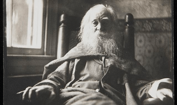 One of the last photographic portraits of Walt Whitman 1891.
