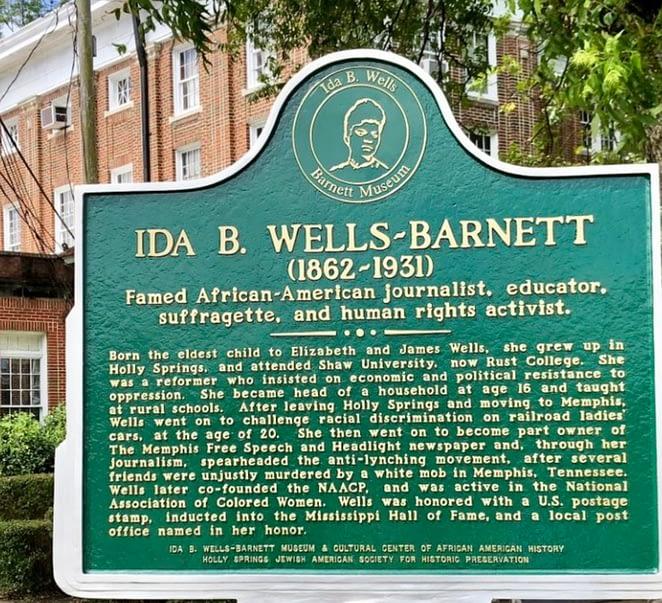 Wells-Barnett Museum, Ida B. Wells plack.